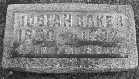 BAKER, JOSIAH - Montgomery County, Ohio | JOSIAH BAKER - Ohio Gravestone Photos