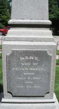 BAKER, MARY - Montgomery County, Ohio | MARY BAKER - Ohio Gravestone Photos