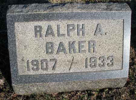 BAKER, RALPH A. - Montgomery County, Ohio | RALPH A. BAKER - Ohio Gravestone Photos