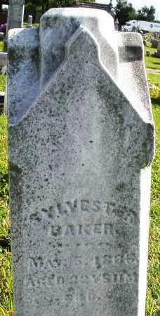 BAKER, SYLVESTER - Montgomery County, Ohio | SYLVESTER BAKER - Ohio Gravestone Photos