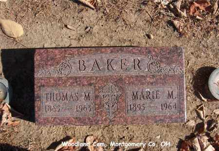 BAKER, THOMAS - Montgomery County, Ohio | THOMAS BAKER - Ohio Gravestone Photos