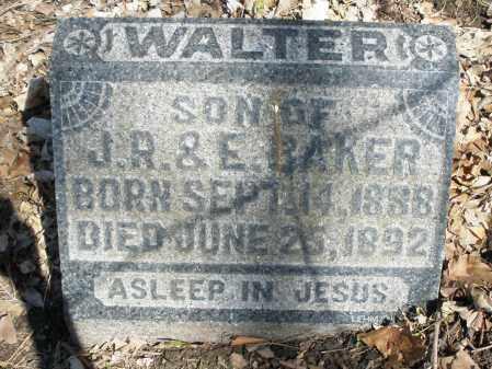 BAKER, WALTER - Montgomery County, Ohio | WALTER BAKER - Ohio Gravestone Photos