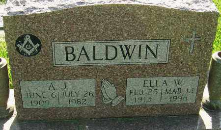 BALDWIN, ELLA W - Montgomery County, Ohio | ELLA W BALDWIN - Ohio Gravestone Photos