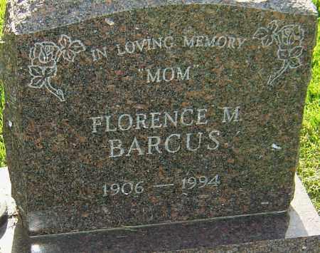 BARCUS, FLORENCE M - Montgomery County, Ohio | FLORENCE M BARCUS - Ohio Gravestone Photos