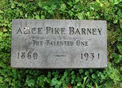BARNEY, ALICE - Montgomery County, Ohio | ALICE BARNEY - Ohio Gravestone Photos