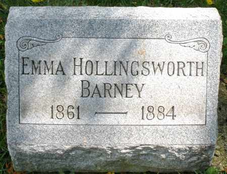 HOLLINGSWORTH BARNEY, EMMA - Montgomery County, Ohio | EMMA HOLLINGSWORTH BARNEY - Ohio Gravestone Photos