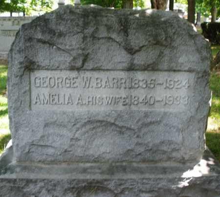BARR, GEORGE W. - Montgomery County, Ohio | GEORGE W. BARR - Ohio Gravestone Photos