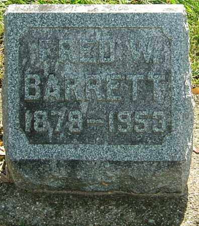 BARRETT, FRED W - Montgomery County, Ohio | FRED W BARRETT - Ohio Gravestone Photos