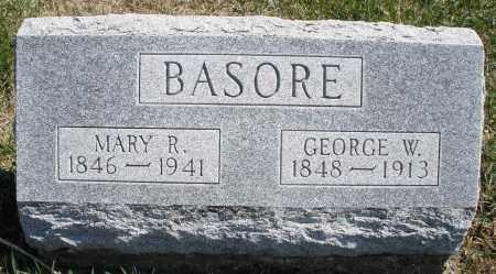 BASORE, MARY R. - Montgomery County, Ohio | MARY R. BASORE - Ohio Gravestone Photos