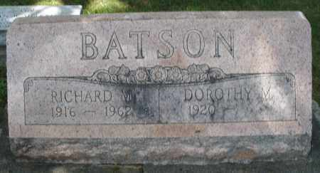 BATSON, RICHARD M. - Montgomery County, Ohio | RICHARD M. BATSON - Ohio Gravestone Photos