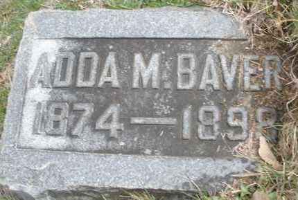 BAVER, ADDA M. - Montgomery County, Ohio | ADDA M. BAVER - Ohio Gravestone Photos