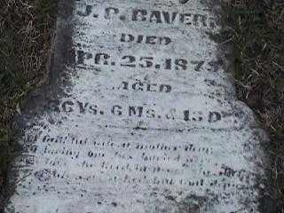BAVER, J.P. - Montgomery County, Ohio | J.P. BAVER - Ohio Gravestone Photos