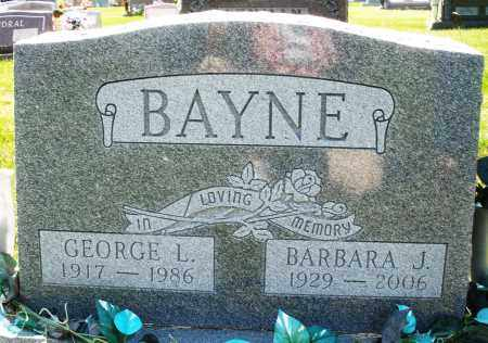 BAYNE, GEORGE L. - Montgomery County, Ohio | GEORGE L. BAYNE - Ohio Gravestone Photos