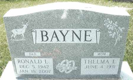 "BAYNE, RONALD L. "" BUTCH "" - Montgomery County, Ohio 