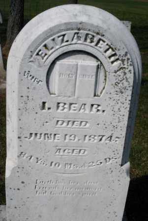 BEAR, ELIZABETH - Montgomery County, Ohio | ELIZABETH BEAR - Ohio Gravestone Photos