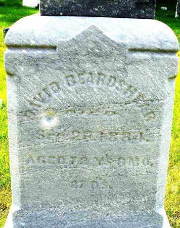 BEARDSHEAR, DAVID - Montgomery County, Ohio   DAVID BEARDSHEAR - Ohio Gravestone Photos