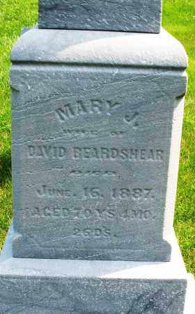 BEARDSHEAR, MARY J. - Montgomery County, Ohio | MARY J. BEARDSHEAR - Ohio Gravestone Photos