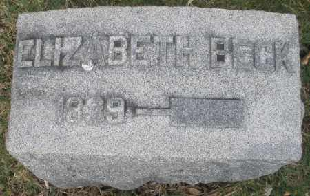 BECK, ELIZABETH - Montgomery County, Ohio | ELIZABETH BECK - Ohio Gravestone Photos