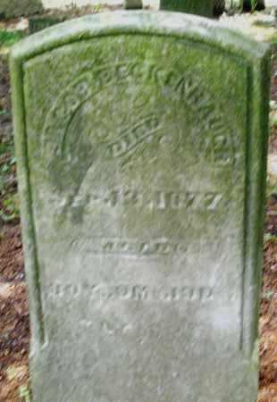 BECKENBAUGH, JACOB - Montgomery County, Ohio | JACOB BECKENBAUGH - Ohio Gravestone Photos