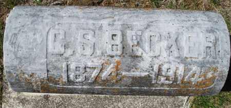 BECKER, C.S. - Montgomery County, Ohio   C.S. BECKER - Ohio Gravestone Photos