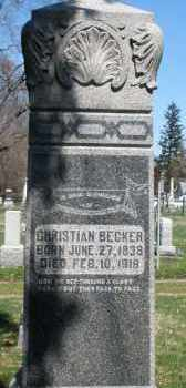 BECKER, CHRISTIAN - Montgomery County, Ohio | CHRISTIAN BECKER - Ohio Gravestone Photos