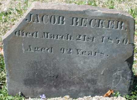 BECKER, JACOB - Montgomery County, Ohio | JACOB BECKER - Ohio Gravestone Photos
