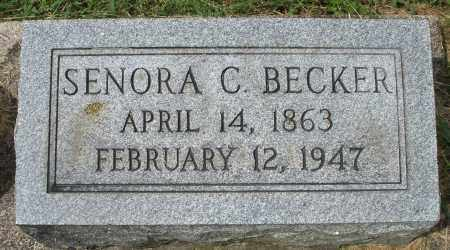 BECKER, SENORA C. - Montgomery County, Ohio | SENORA C. BECKER - Ohio Gravestone Photos