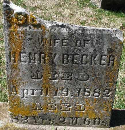 BECKER, SUSANNA - Montgomery County, Ohio | SUSANNA BECKER - Ohio Gravestone Photos