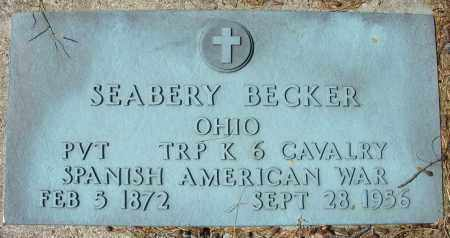 BECKER, SEABERY - Montgomery County, Ohio | SEABERY BECKER - Ohio Gravestone Photos