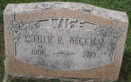 BECKMAN, ESTHER R. - Montgomery County, Ohio | ESTHER R. BECKMAN - Ohio Gravestone Photos