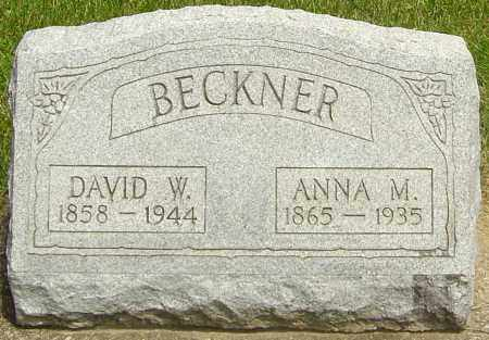 BECKNER, ANNA M - Montgomery County, Ohio | ANNA M BECKNER - Ohio Gravestone Photos