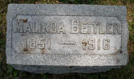 BEITLER, MALINDA - Montgomery County, Ohio | MALINDA BEITLER - Ohio Gravestone Photos