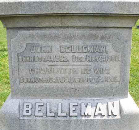 BELLEMAN, CHARLOTTE - Montgomery County, Ohio | CHARLOTTE BELLEMAN - Ohio Gravestone Photos