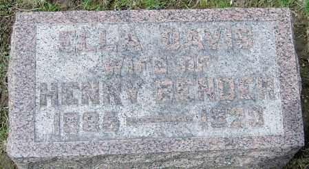 DAVIS BENDER, ELLA - Montgomery County, Ohio | ELLA DAVIS BENDER - Ohio Gravestone Photos