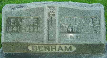 BENHAM, E JANE - Montgomery County, Ohio | E JANE BENHAM - Ohio Gravestone Photos