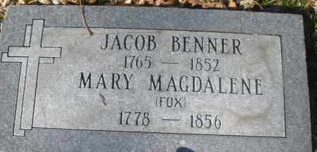 BENNER, MARY MAGDALENE - Montgomery County, Ohio | MARY MAGDALENE BENNER - Ohio Gravestone Photos