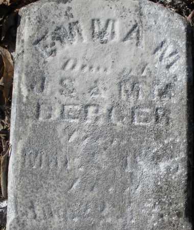 BERGER, EMMA M. - Montgomery County, Ohio | EMMA M. BERGER - Ohio Gravestone Photos