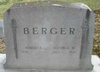 BERGER, GEORGE W. - Montgomery County, Ohio | GEORGE W. BERGER - Ohio Gravestone Photos
