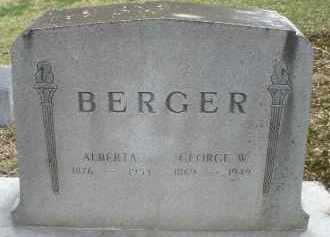 BERGER, ALBERTA - Montgomery County, Ohio | ALBERTA BERGER - Ohio Gravestone Photos