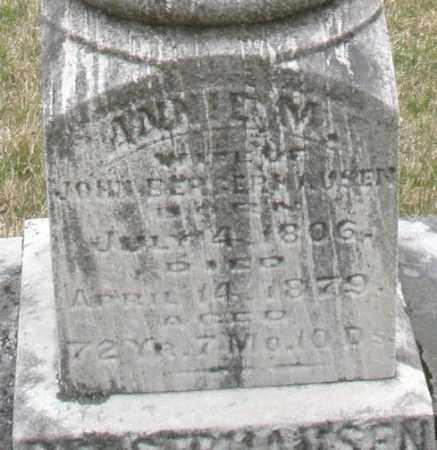 BERGERHAUSER, ANNIE M. - Montgomery County, Ohio | ANNIE M. BERGERHAUSER - Ohio Gravestone Photos