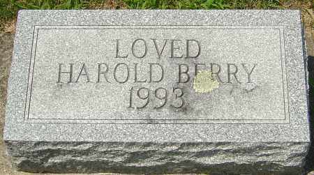 BERRY, HAROLD - Montgomery County, Ohio | HAROLD BERRY - Ohio Gravestone Photos