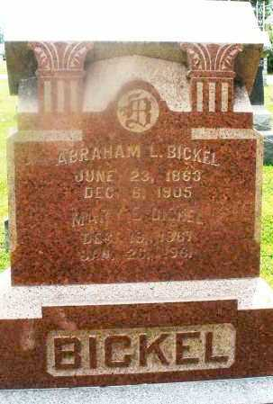 BICKEL, ABRAHAM L. - Montgomery County, Ohio | ABRAHAM L. BICKEL - Ohio Gravestone Photos