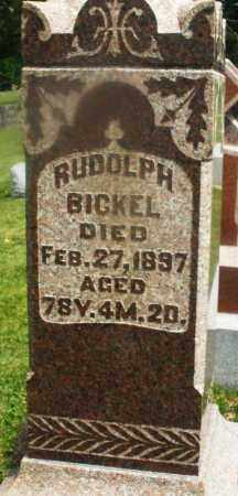 BICKEL, RUDOLPH - Montgomery County, Ohio | RUDOLPH BICKEL - Ohio Gravestone Photos