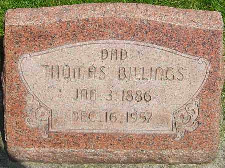 BILLINGS, THOMAS - Montgomery County, Ohio | THOMAS BILLINGS - Ohio Gravestone Photos