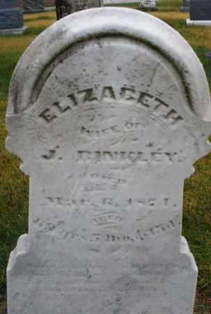 BINKLEY, ELIZABETH - Montgomery County, Ohio   ELIZABETH BINKLEY - Ohio Gravestone Photos