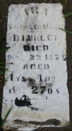 BINKLEY, IRA - Montgomery County, Ohio | IRA BINKLEY - Ohio Gravestone Photos
