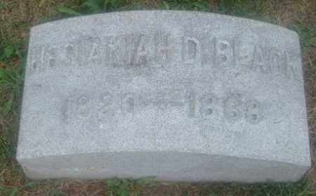 BLACK, HESAKIAH D. - Montgomery County, Ohio | HESAKIAH D. BLACK - Ohio Gravestone Photos