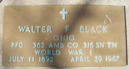 BLACK, WALTER F. - Montgomery County, Ohio | WALTER F. BLACK - Ohio Gravestone Photos