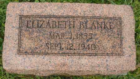 BLANKE, ELIZABETH - Montgomery County, Ohio | ELIZABETH BLANKE - Ohio Gravestone Photos