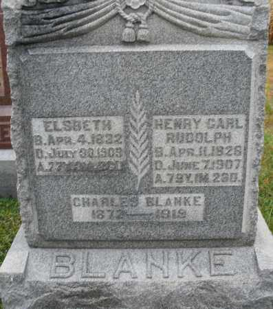 BLANKE, HENRY CARL RUDOLPH - Montgomery County, Ohio | HENRY CARL RUDOLPH BLANKE - Ohio Gravestone Photos